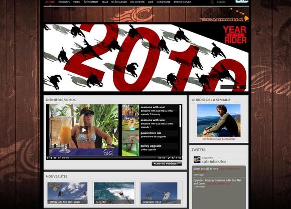 Le site Cabrinha Kite